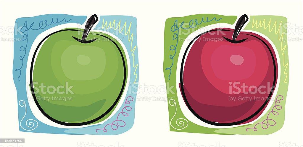 Sketchy Apples royalty-free stock vector art