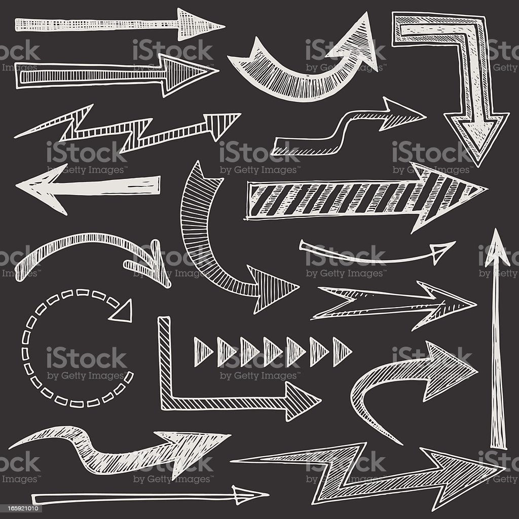 Sketchy Arrows vector art illustration
