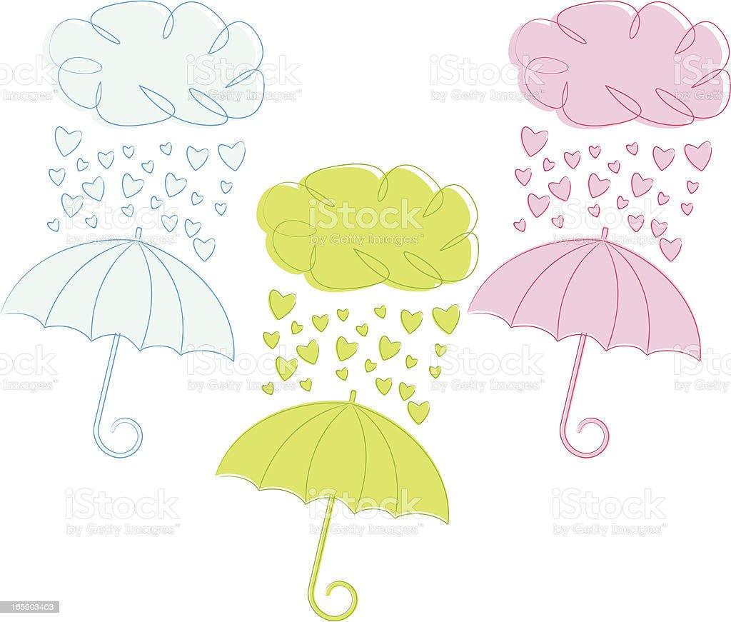 Sketchy Baby or Wedding Shower vector art illustration