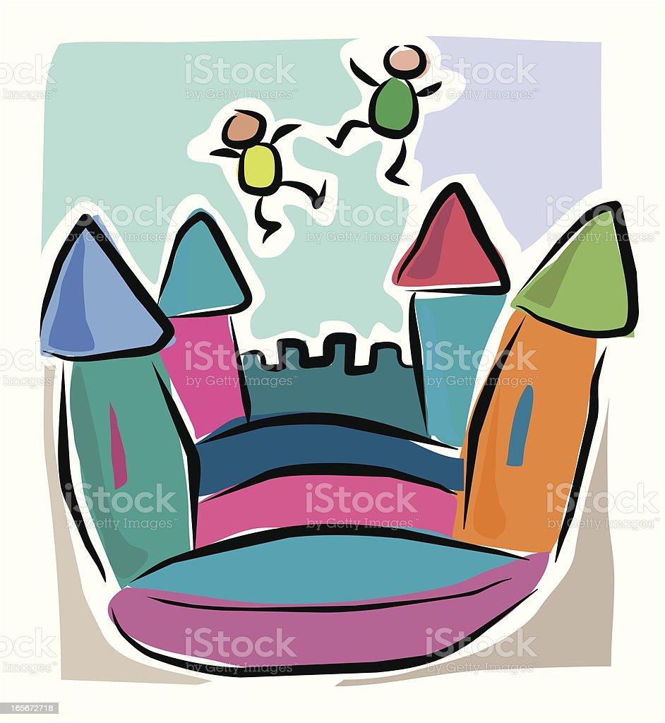 Sketchy Bouncy Castle royalty-free stock vector art