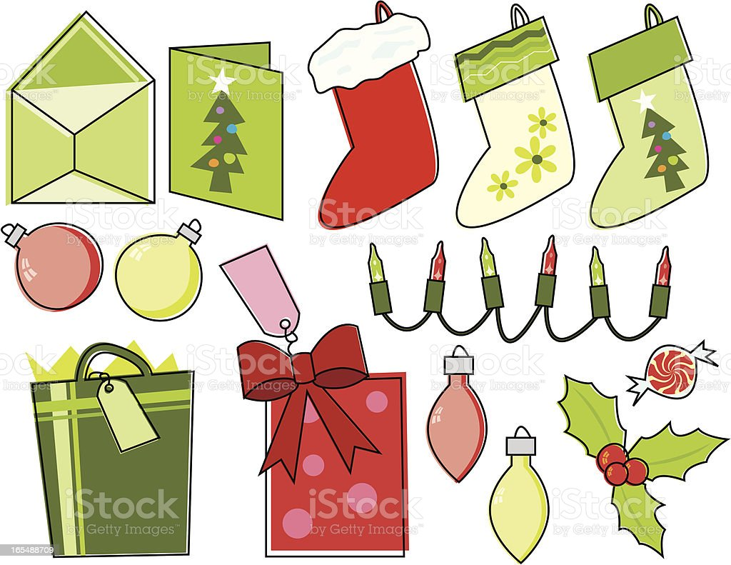 Sketchy Christmas Essentials royalty-free stock vector art