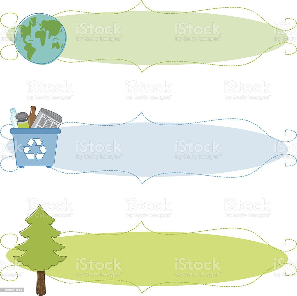 Sketchy Eco Banners vector art illustration