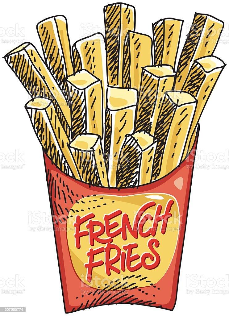 sketchy fast food vector art illustration
