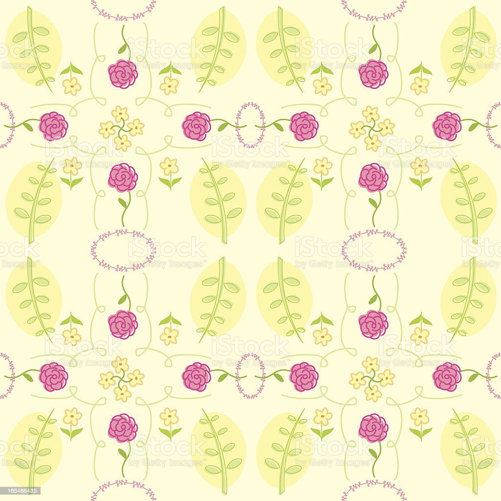 Sketchy Floral Seamless Pattern vector art illustration