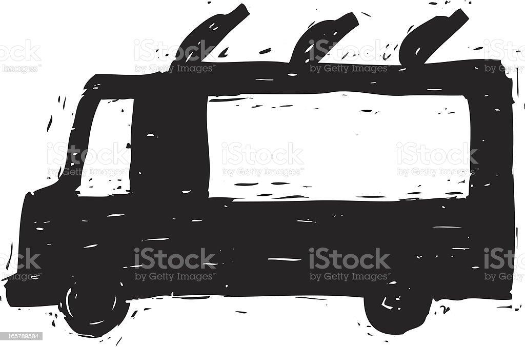 sketchy food truck royalty-free stock vector art