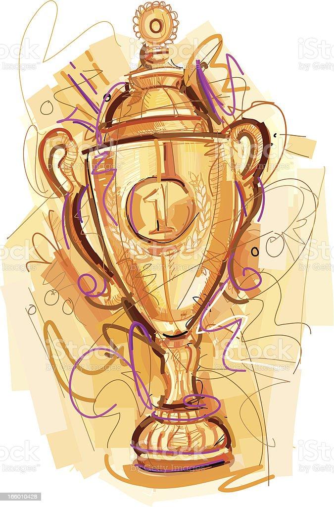 Sketchy Gold Award royalty-free stock vector art