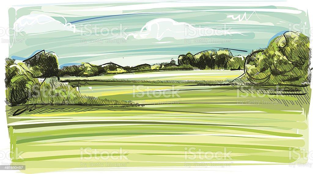 Sketchy Horizont royalty-free stock vector art