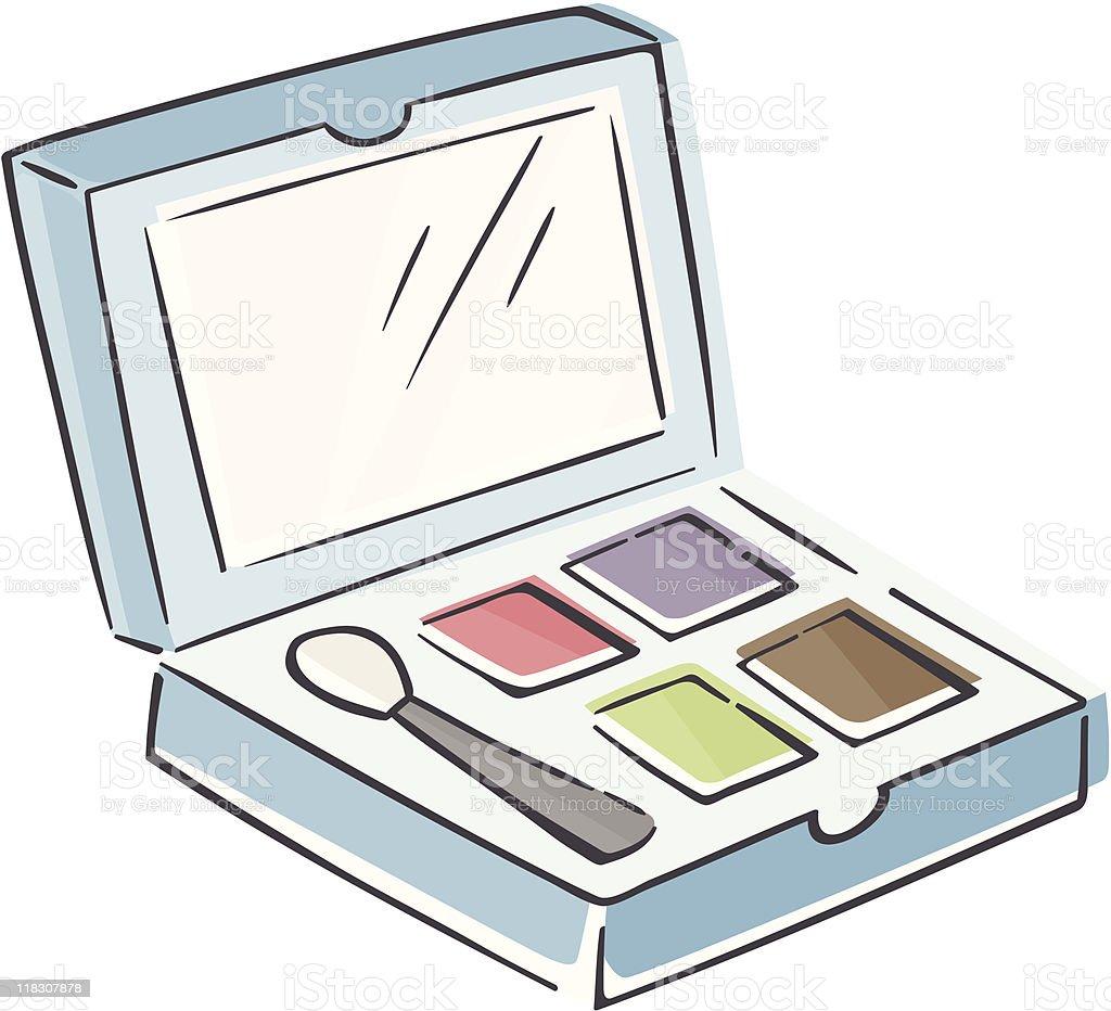 Sketchy Makeup Palette royalty-free stock vector art