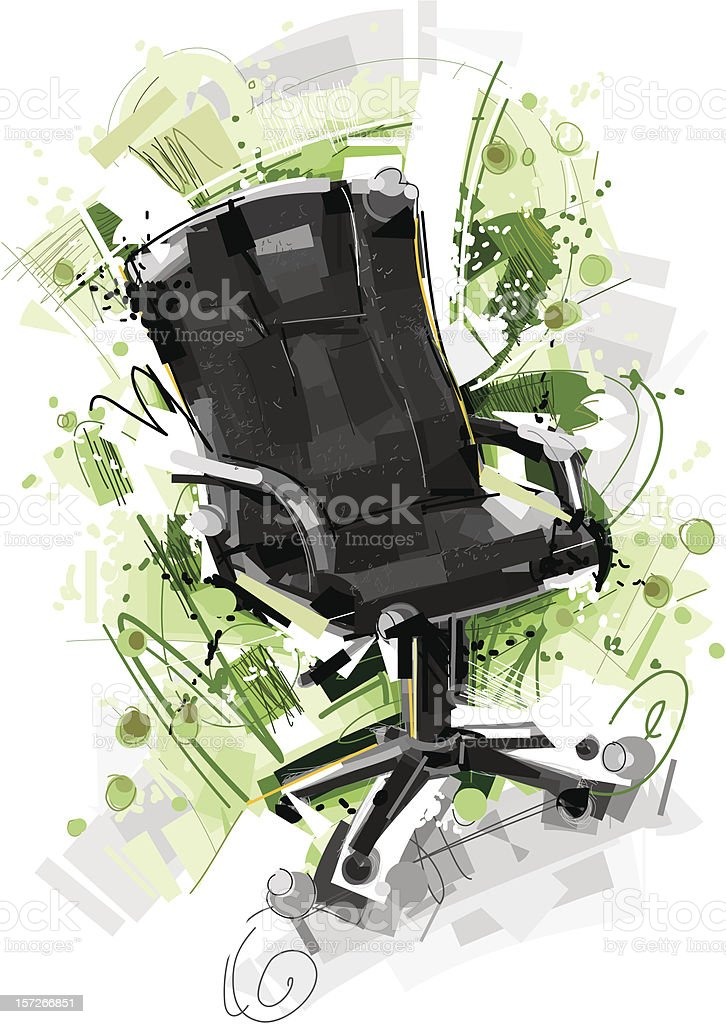 sketchy office chair royalty-free stock vector art