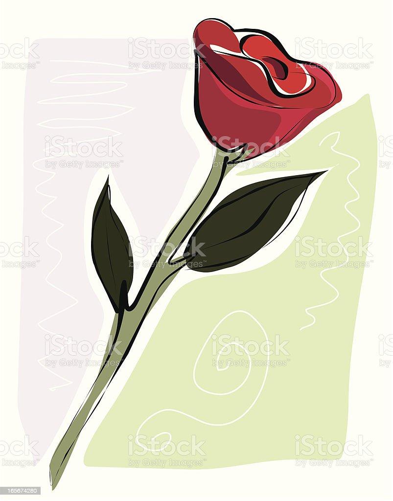 Sketchy Rose royalty-free stock vector art