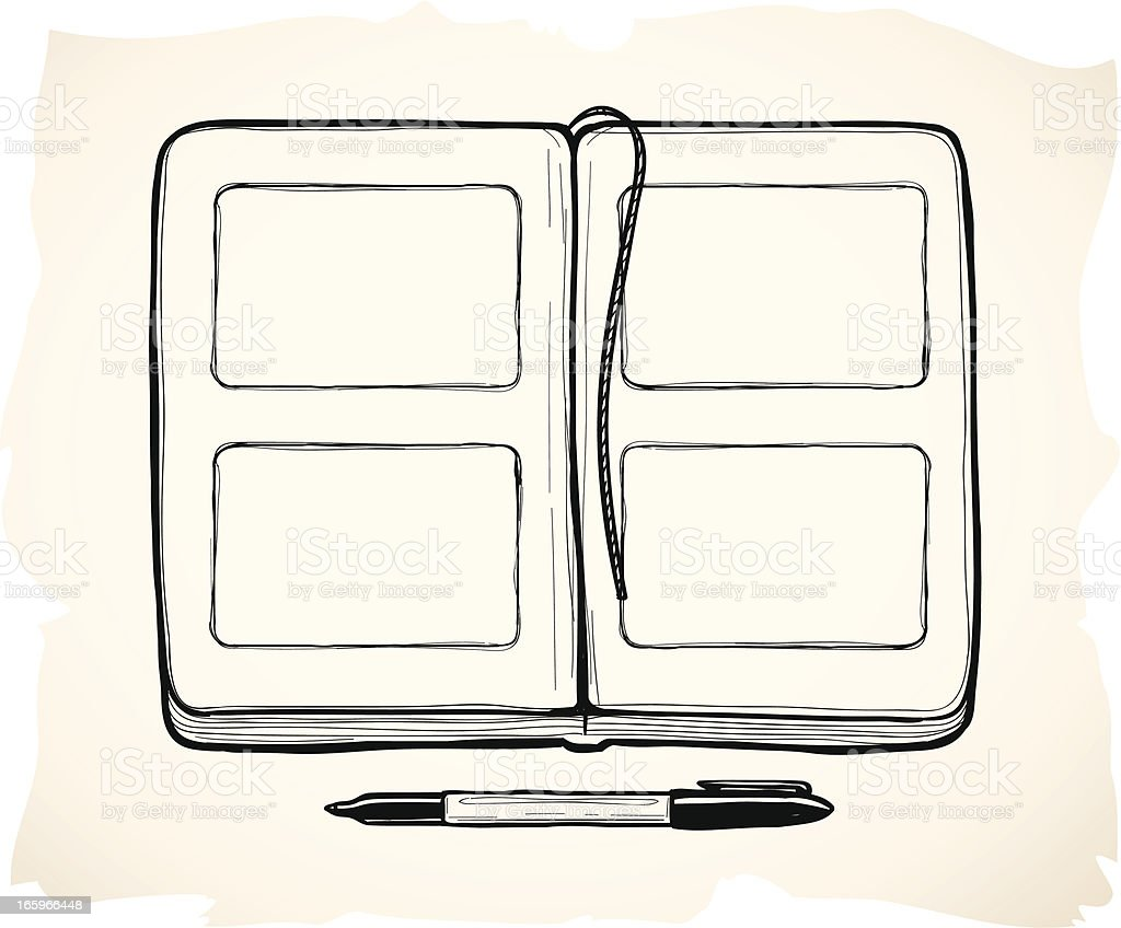 Sketchy sketchpad royalty-free stock vector art