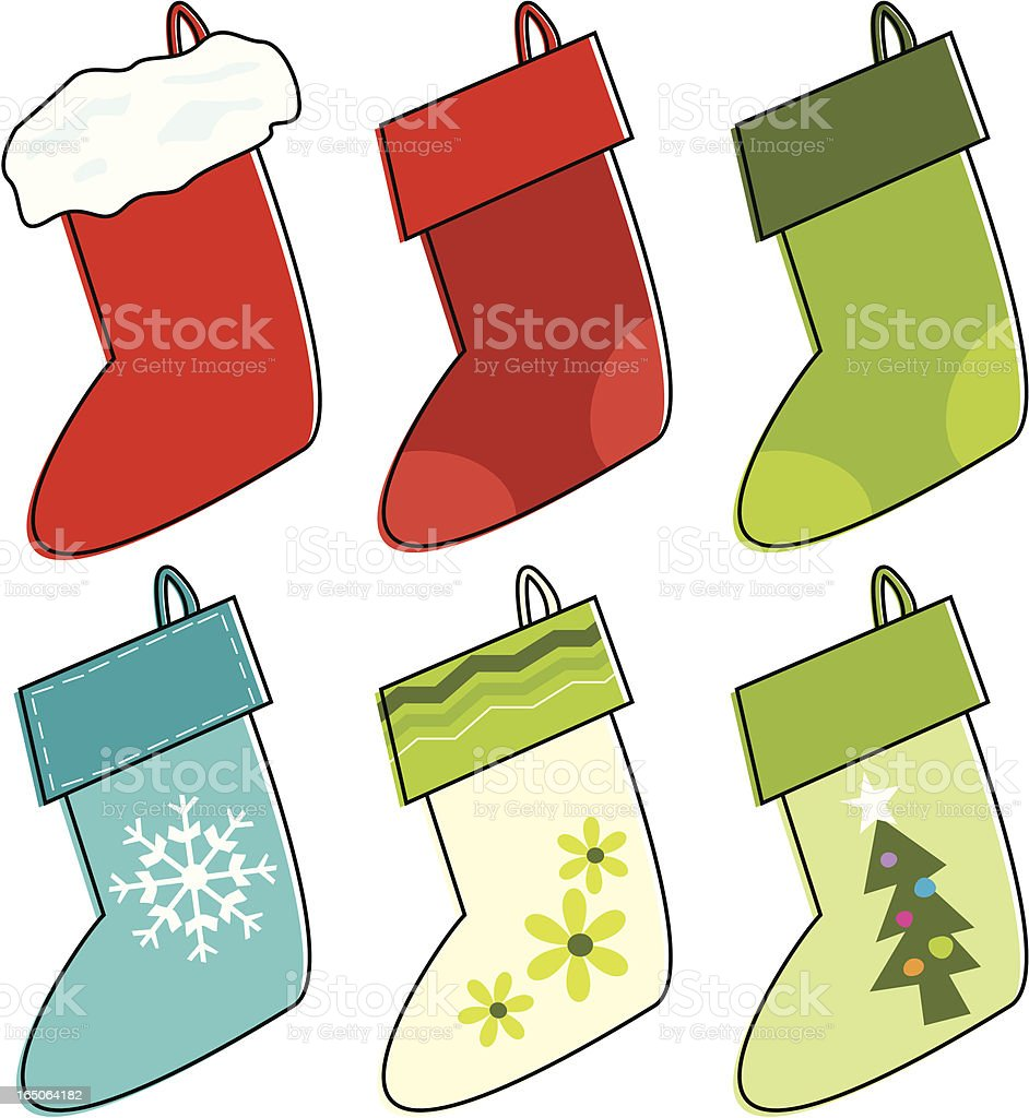 Sketchy Stockings royalty-free stock vector art