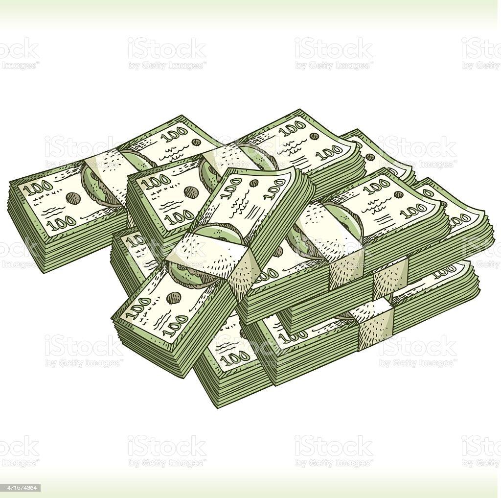 sketchy vector money vector art illustration