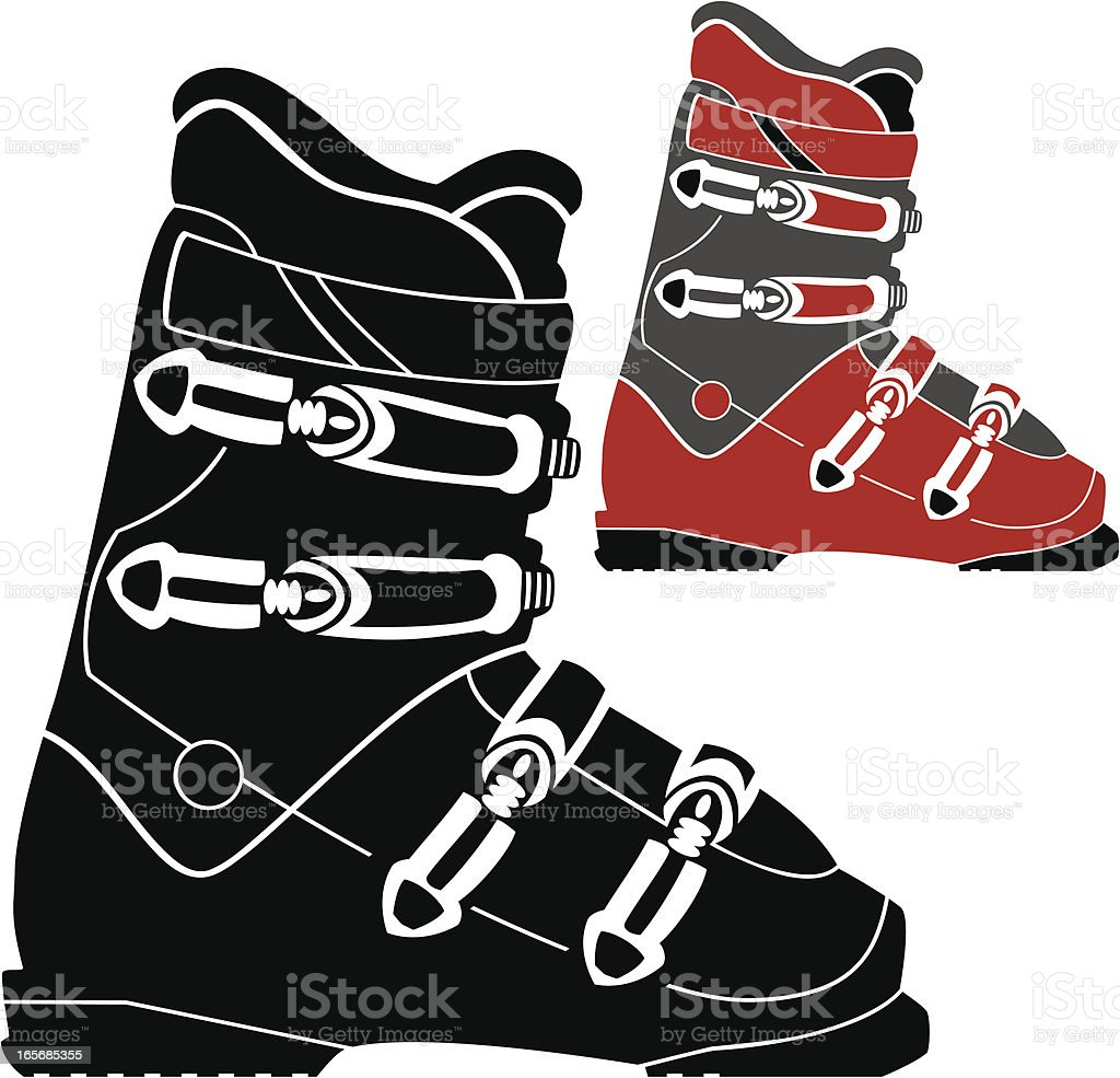 Ski Boot royalty-free stock vector art