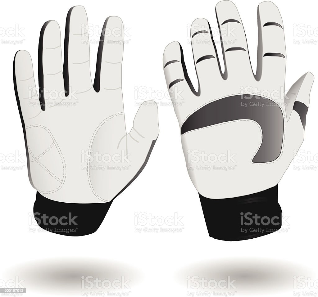 Ski gloves eps8 vector art illustration
