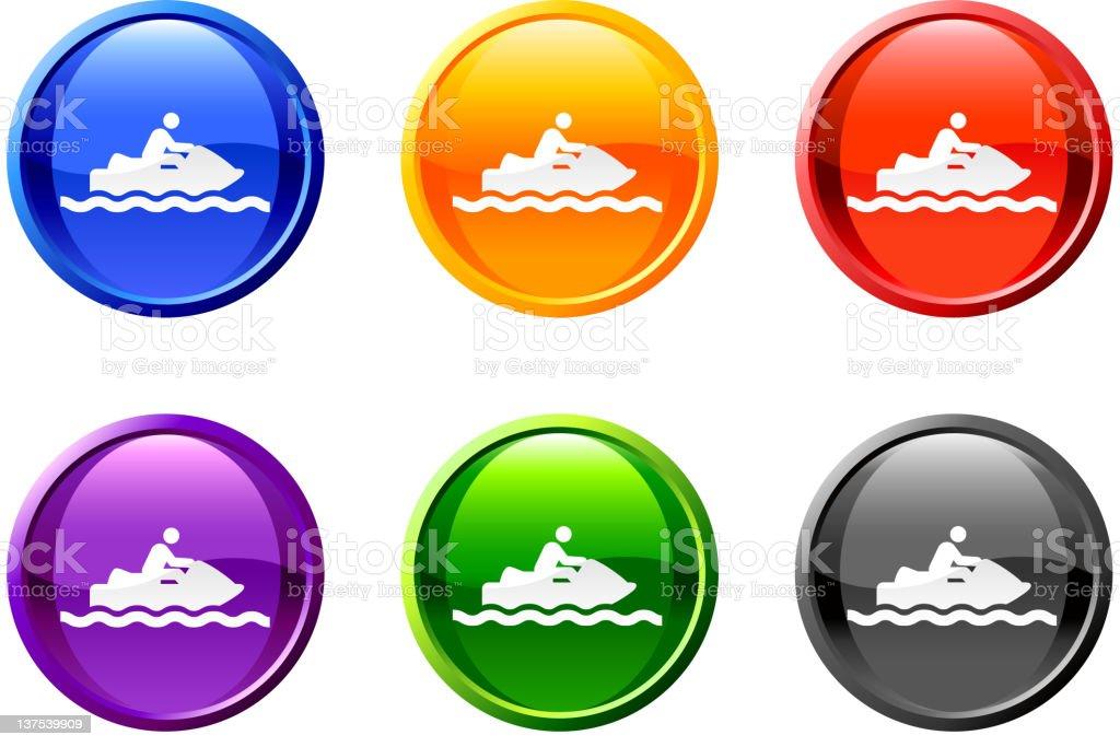 ski jet button royalty free vector art royalty-free stock vector art