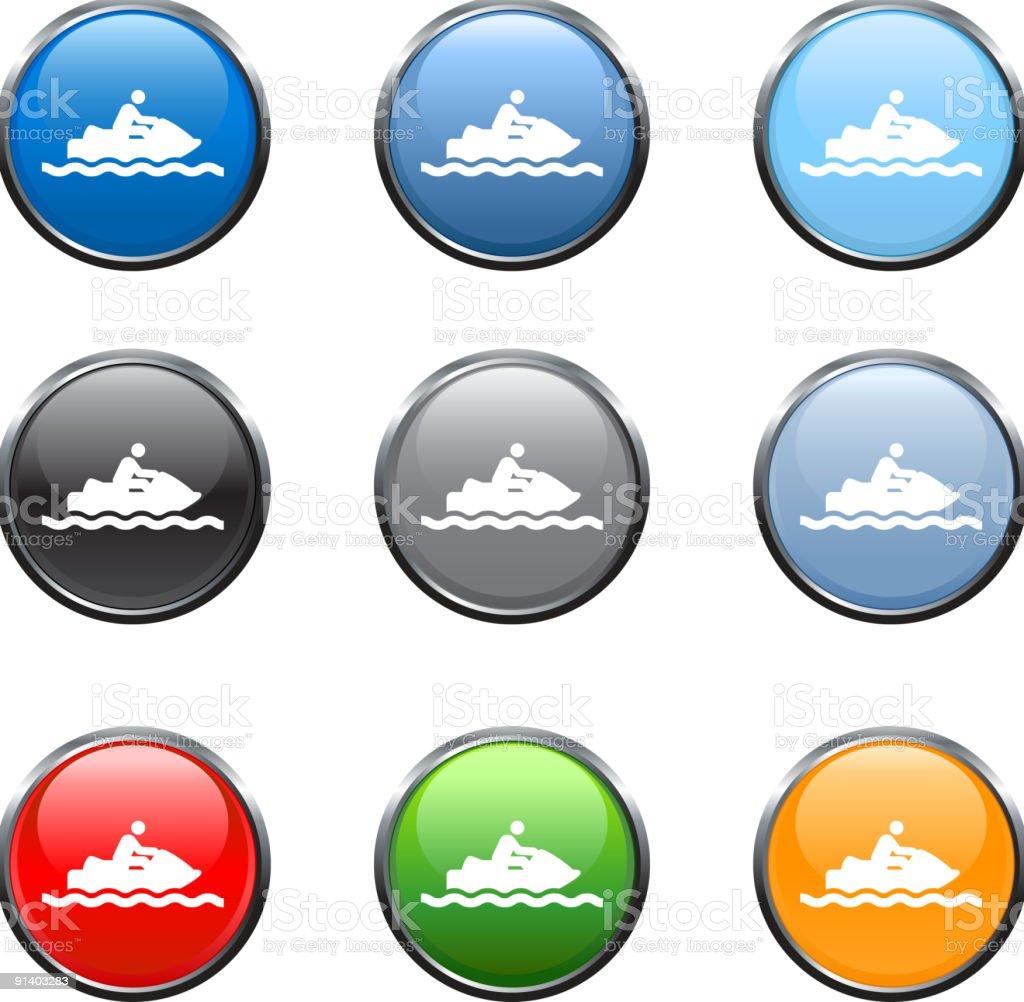 Ski jet royalty free vector art in nine colors royalty-free stock vector art