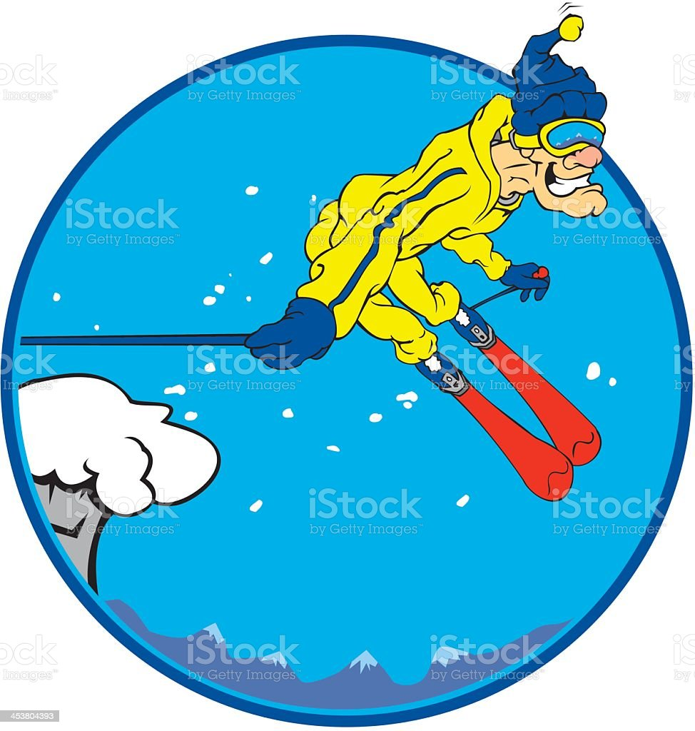 Ski Jump royalty-free stock vector art