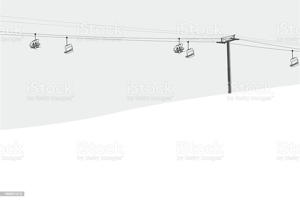 Ski Lift vector art illustration