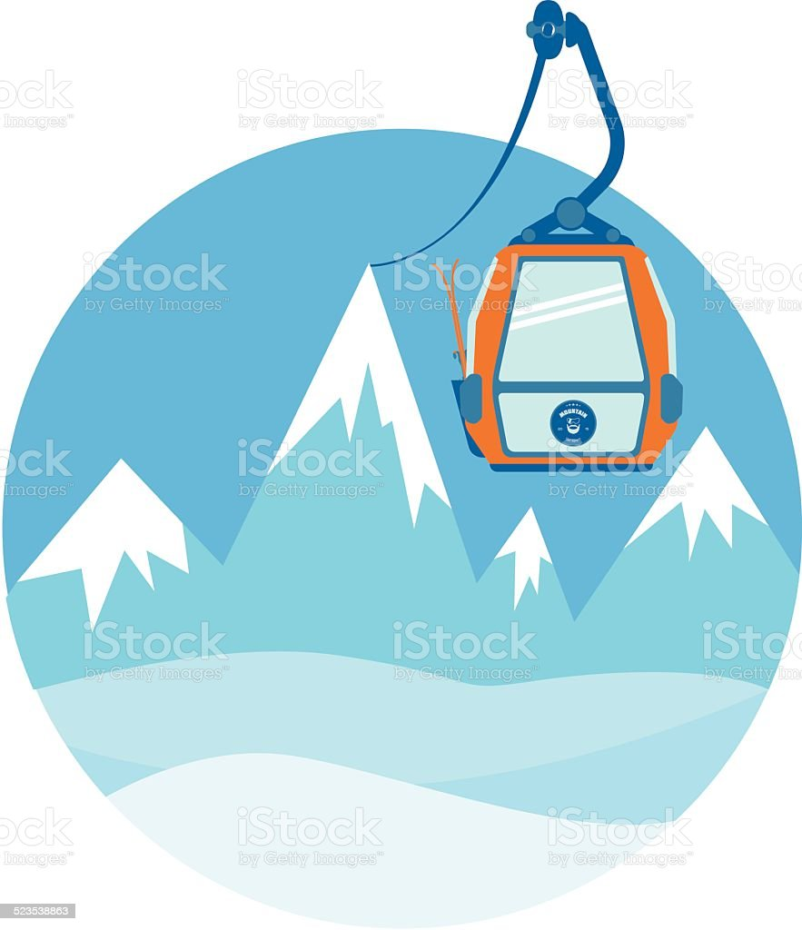 Ski lift. Vector illustration. vector art illustration