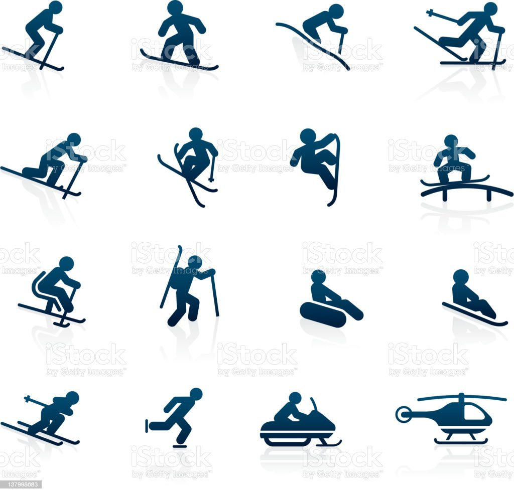 Ski Resort icons - Activities vector art illustration