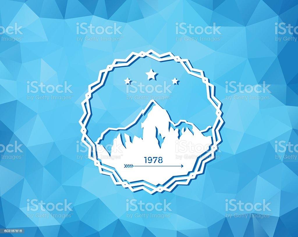 Ski Resort Logo vector art illustration