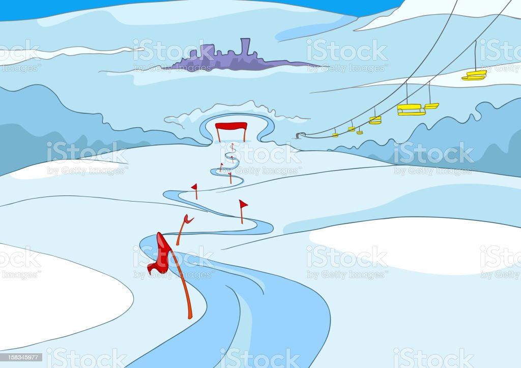 Ski Resort royalty-free stock vector art