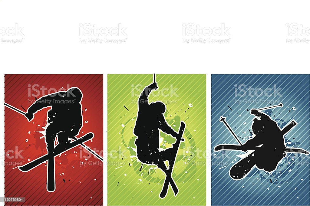 skier backgrounds royalty-free stock vector art