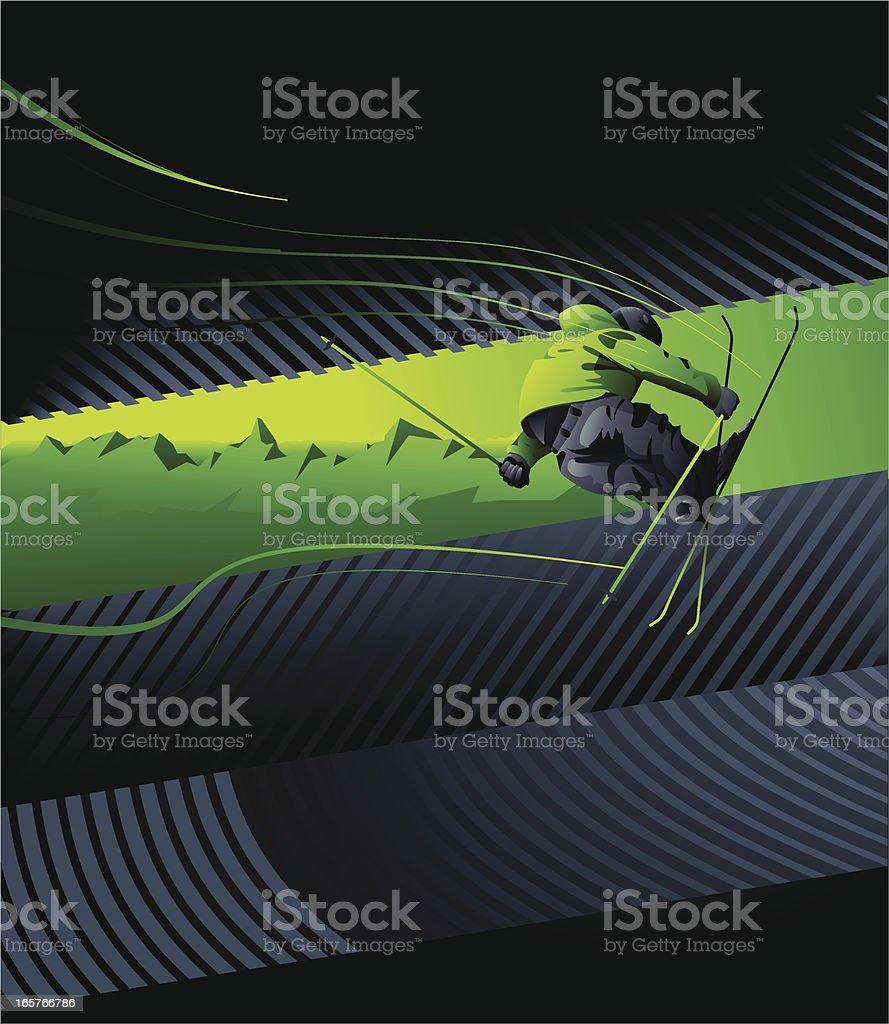 Skier. royalty-free stock vector art