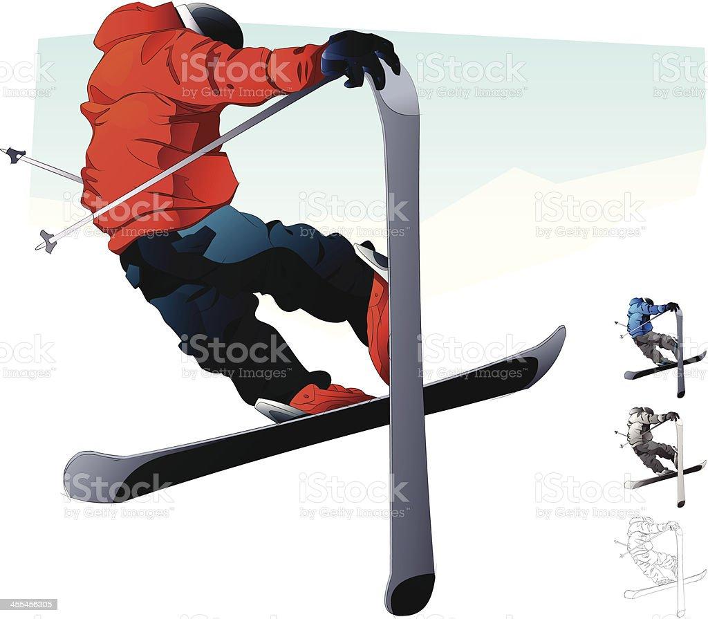 Skier royalty-free stock vector art