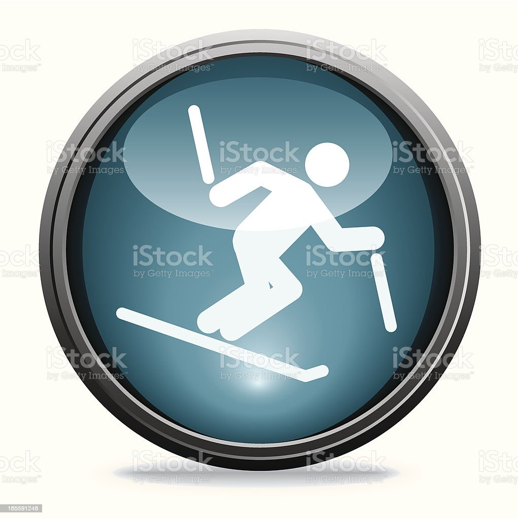 Skiing | Glass Collection royalty-free stock vector art