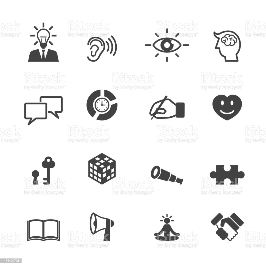 skill icons vector art illustration
