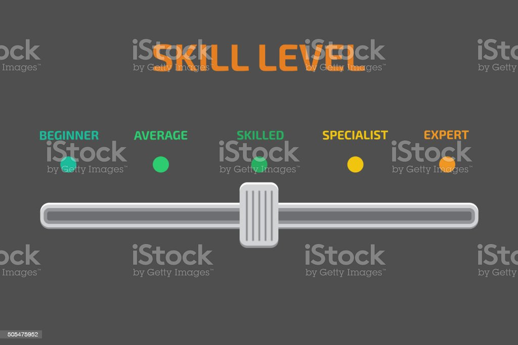 Skill levels vector vector art illustration