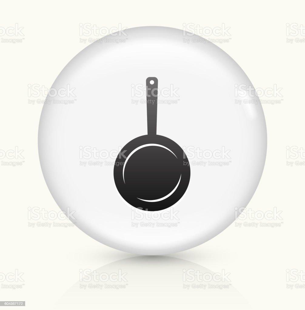 Skillet icon on white round vector button vector art illustration