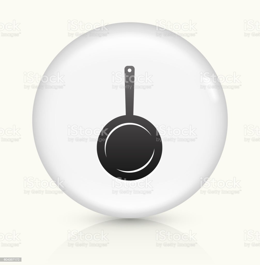 Skillet icon on white round vector button vector art illustration