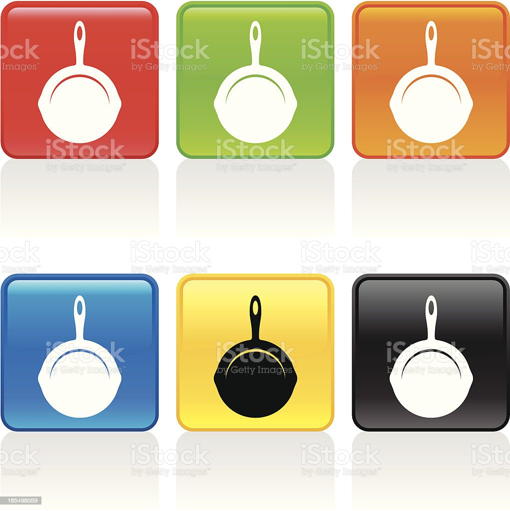 Skillet Icon royalty-free stock vector art