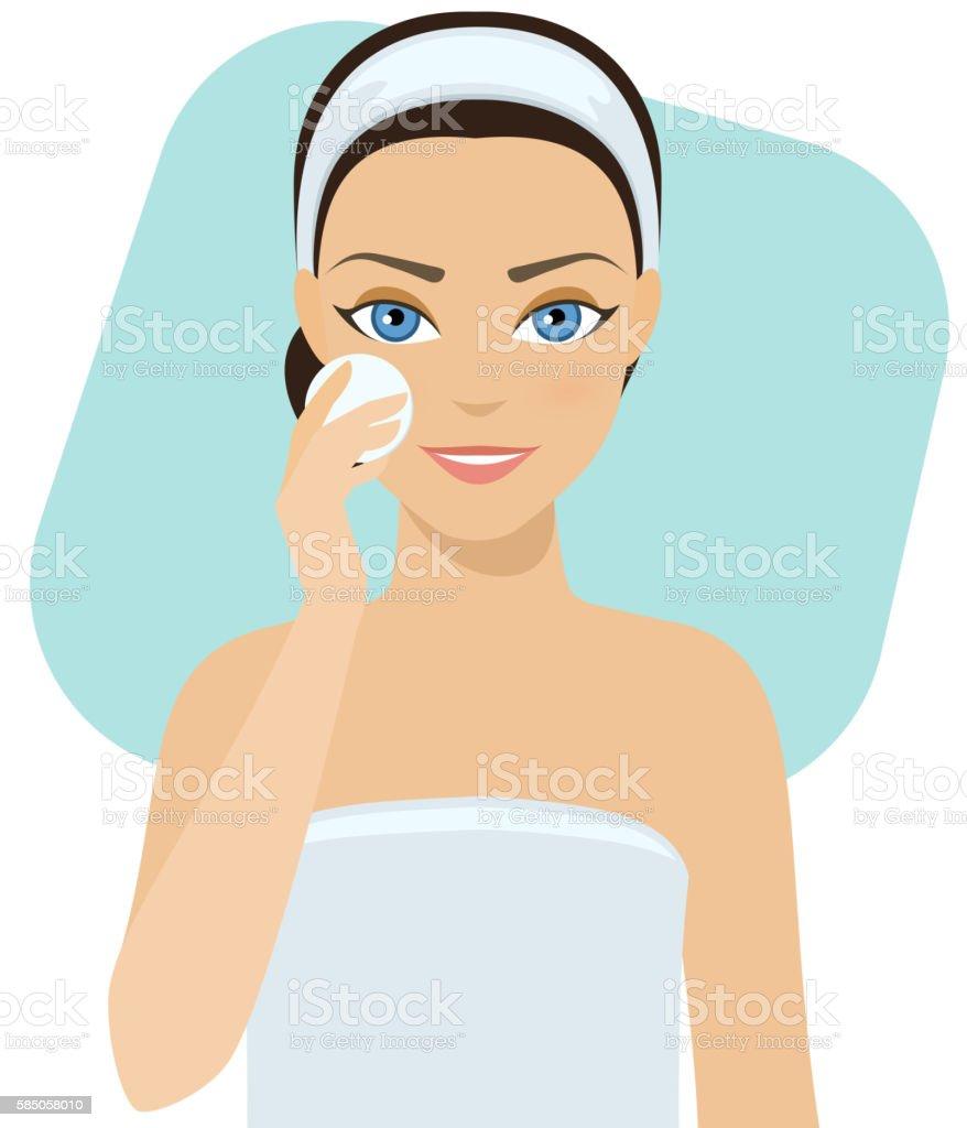 Skin care - lotion vector art illustration