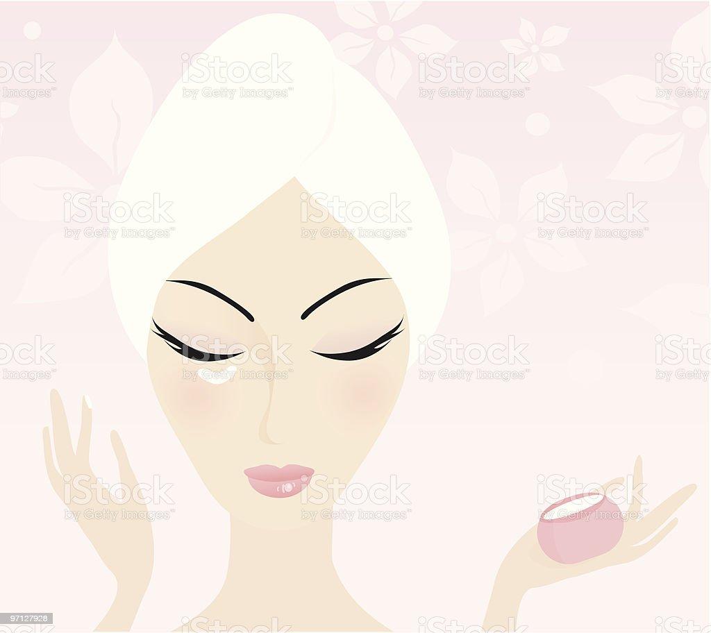 Skin care vector art illustration