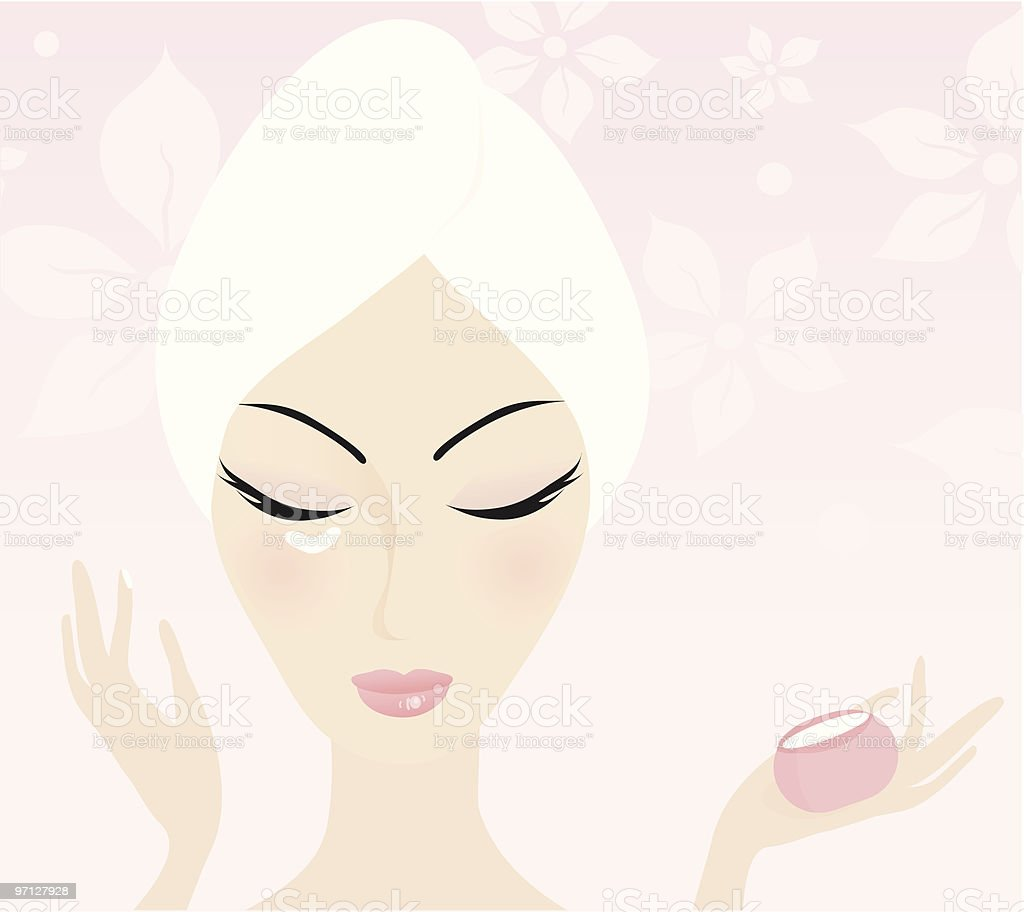 Skin care vector art illustration