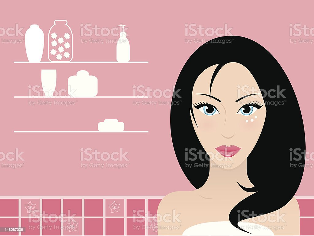 Skincare royalty-free stock vector art