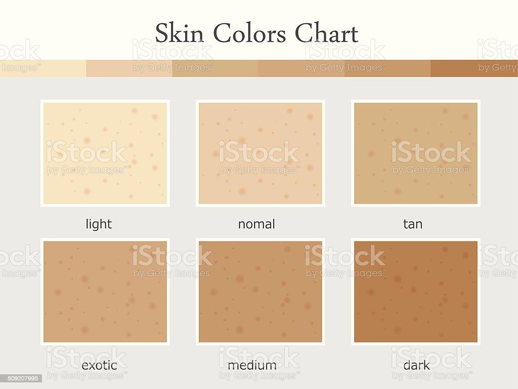 Skin-Color-Tone vector art illustration