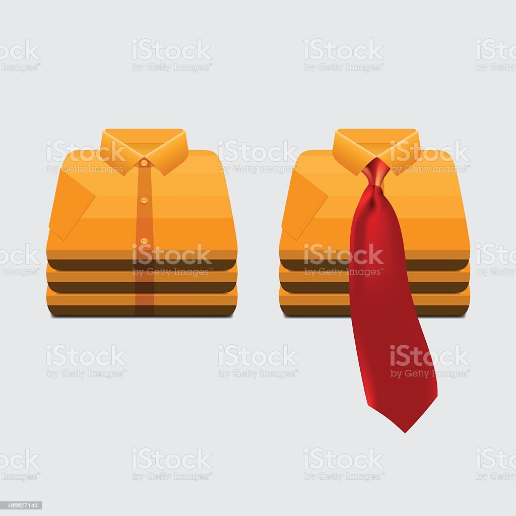 Skirt and Necktie vector art illustration