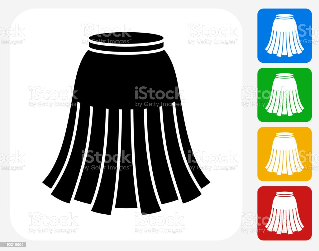 Skirt Icon Flat Graphic Design vector art illustration