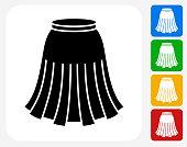 Skirt Icon Flat Graphic Design