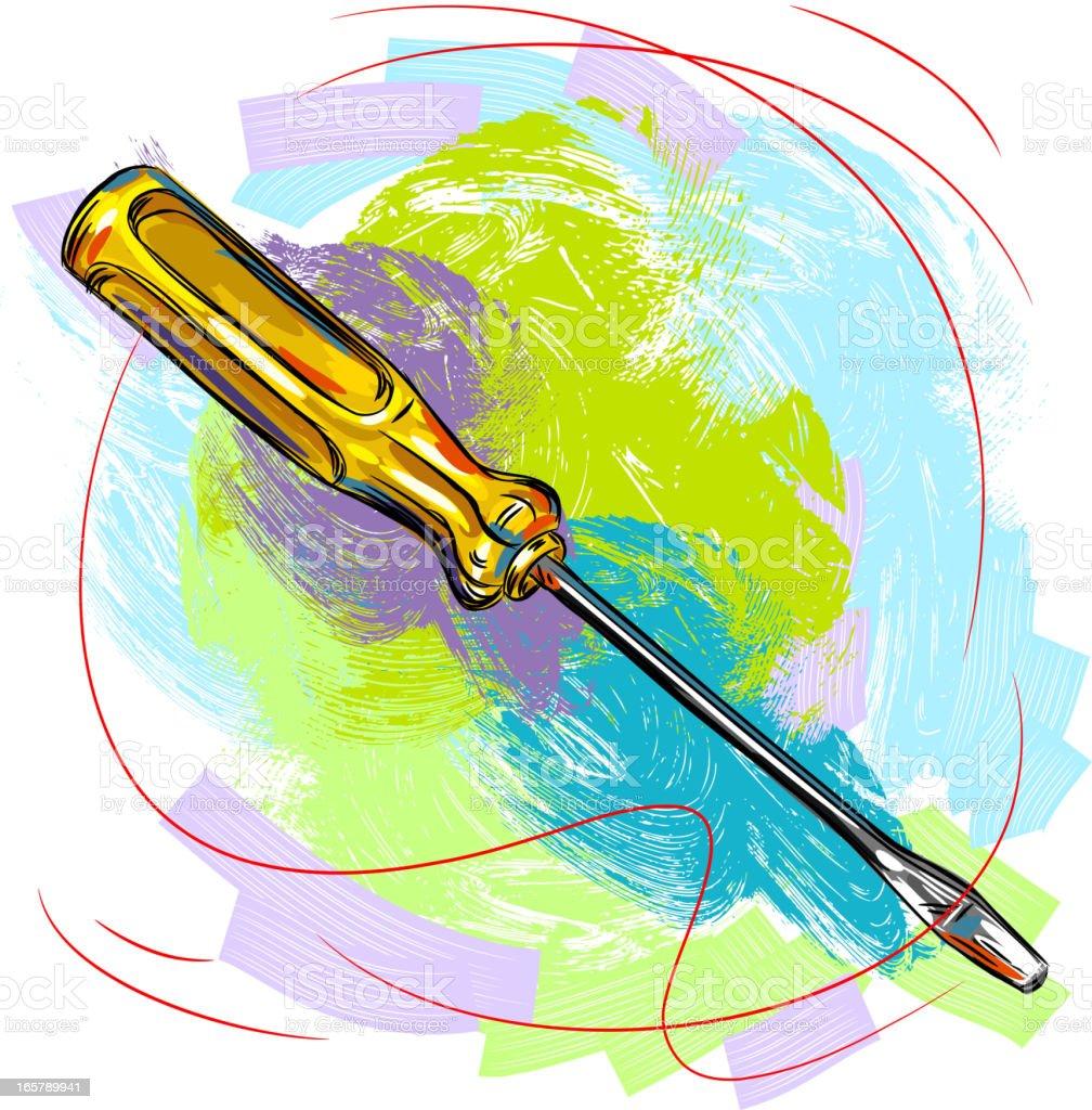 Skrewdriver royalty-free stock vector art