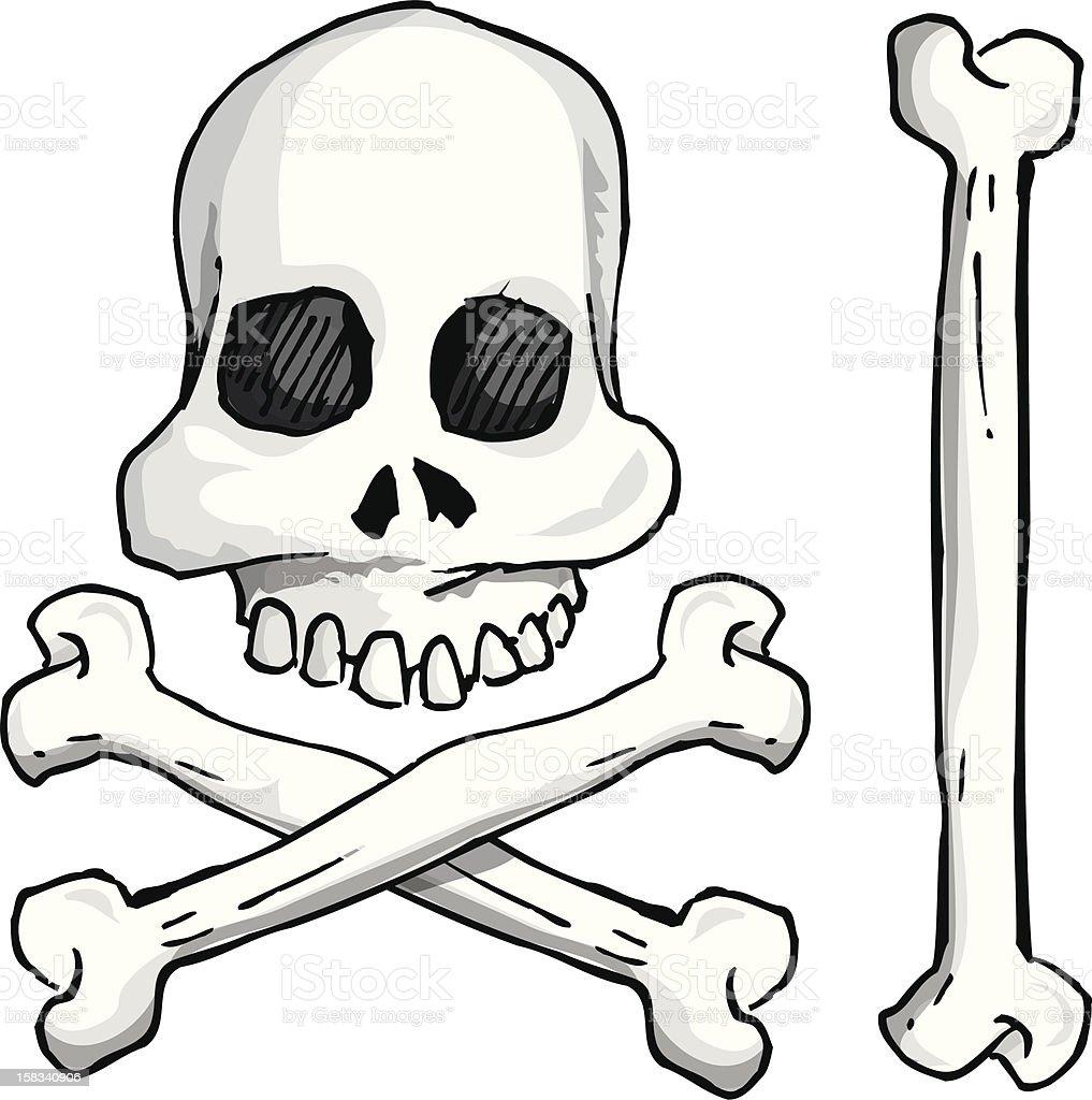 Skull & Cross Bones royalty-free stock vector art