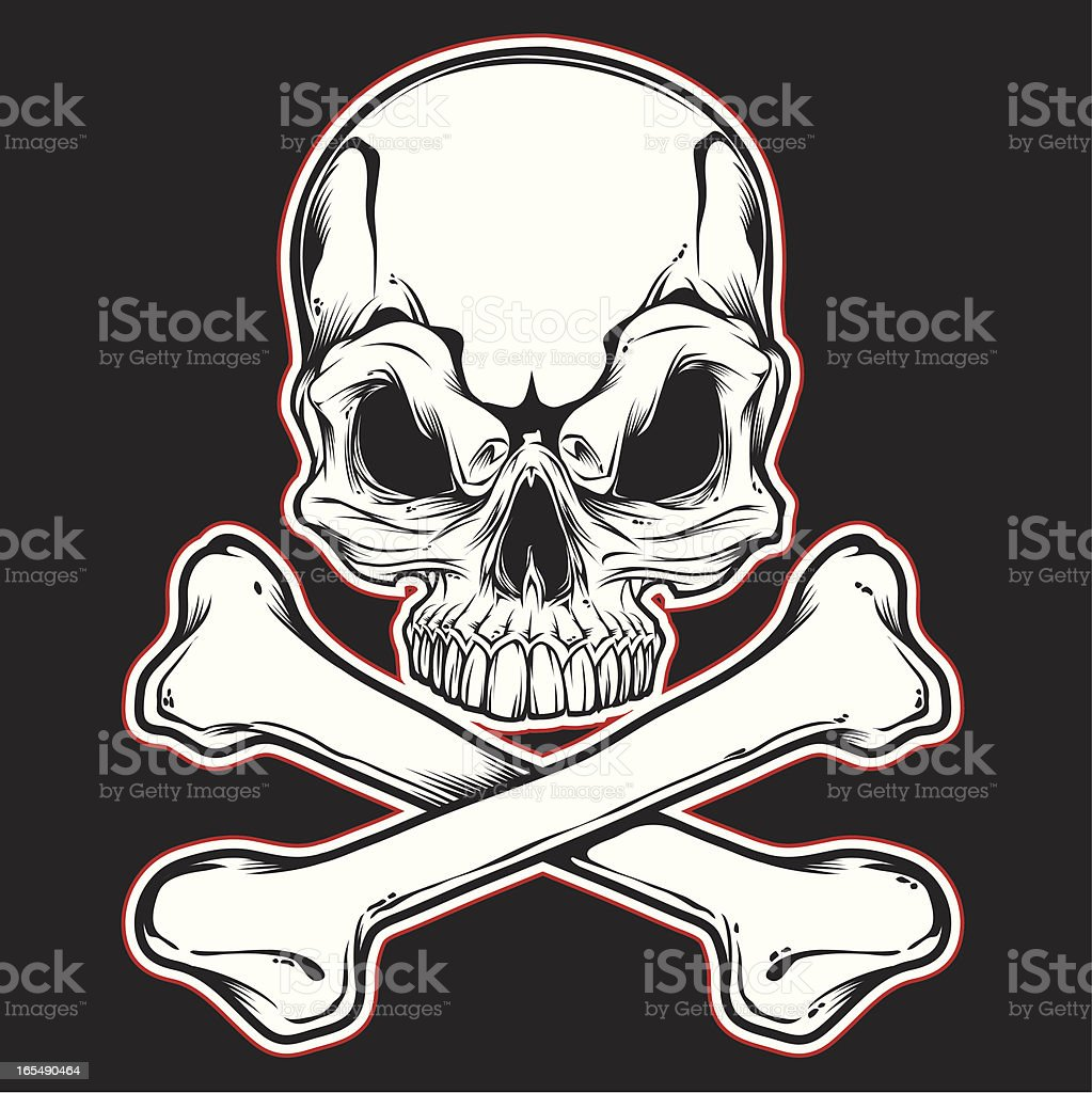 skull and bones front royalty-free stock vector art