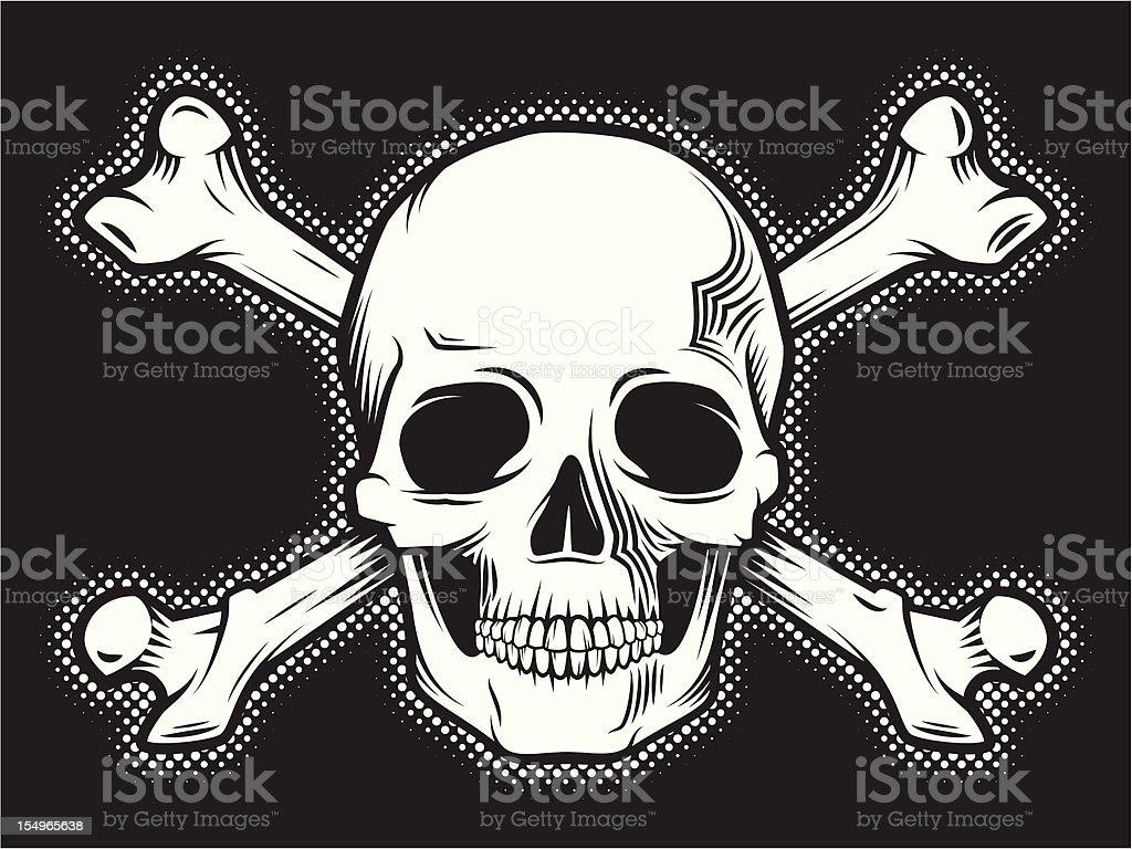 skull and bones royalty-free stock vector art