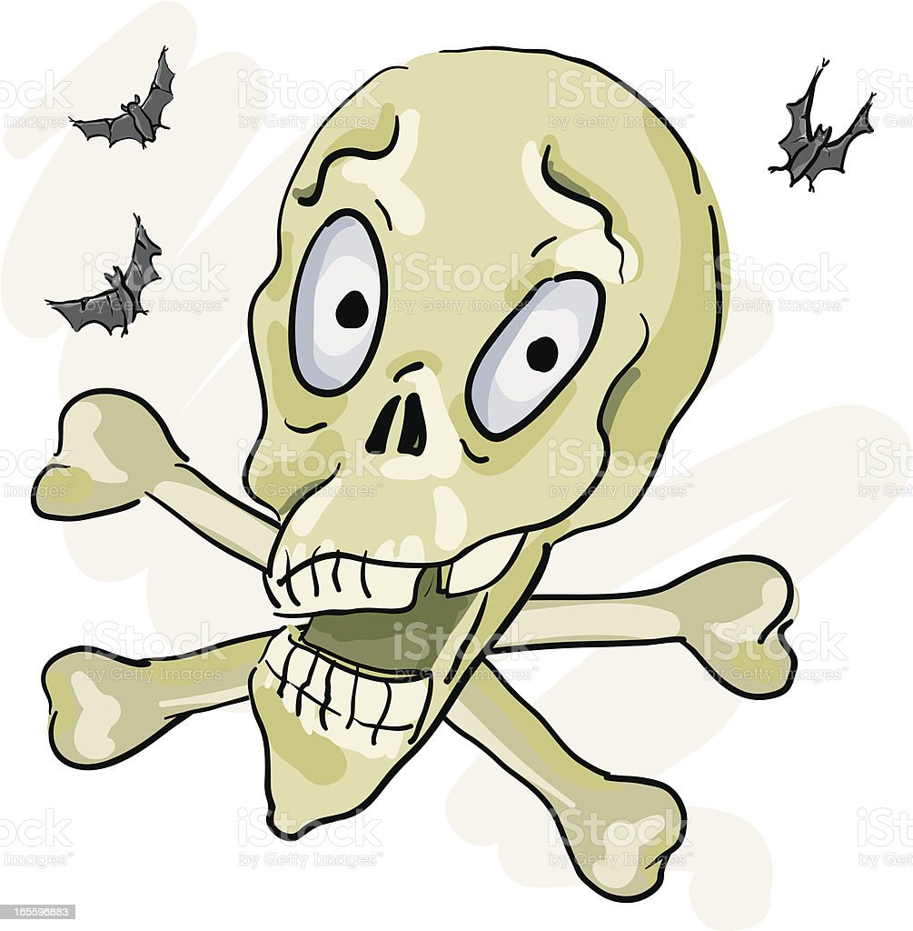 Skull and Cross Bones royalty-free stock vector art