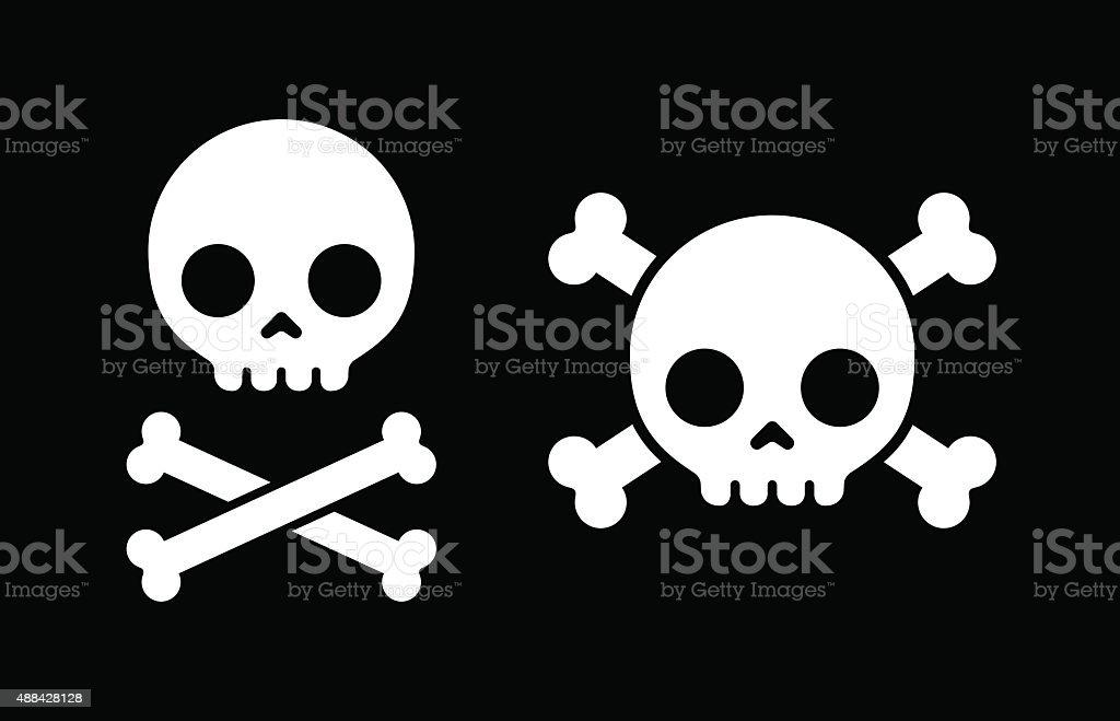 Skull and crossbones icons vector art illustration